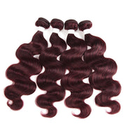 Colored 100% Human Hair Weave Straight Hair Bundle 8-26 inch (99J) (2909092151396)