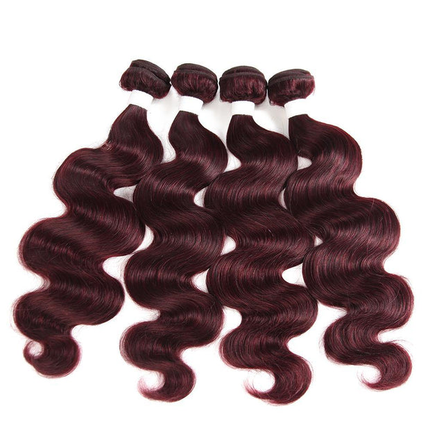 Colored 100% Human Hair Weave Straight Hair Bundle 8-26 inch (99J)