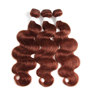 Colored 100% Auburn Red Human Hair Weave BODY 3 Hair Bundles 8-26 inch (33) (2903355064420)