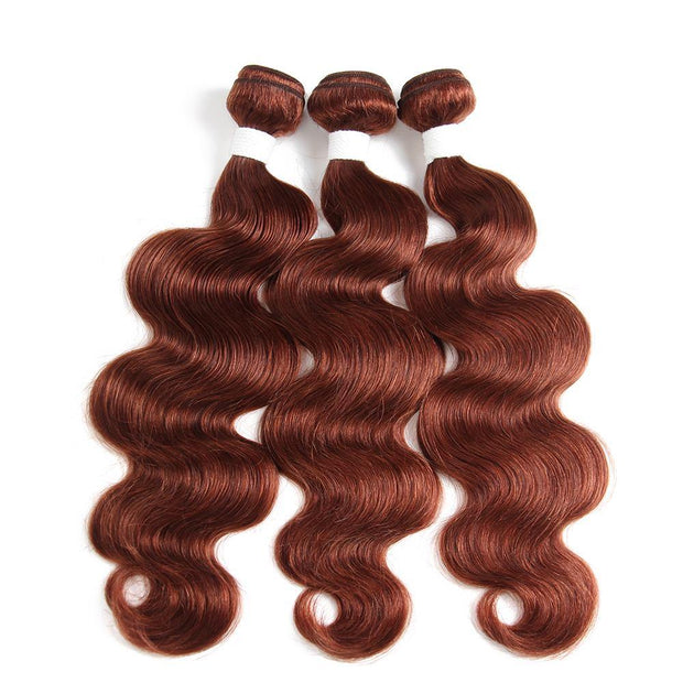 Colored 100% Auburn Red Human Hair Weave BODY 3 Hair Bundles 8-26 inch (33)