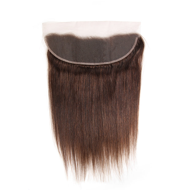 Straight Colored Black Human Hair Free/Middle Part 4×13 Lace Closure (4)