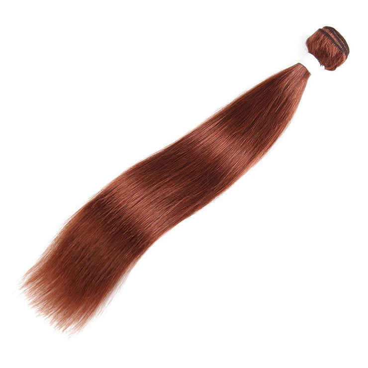 Colored 100% Human Hair Weave Straight Hair Bundle 8-26 inch (33) (2612101546084)
