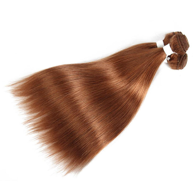 Colored 100% Human Hair Weave Straight 3 Hair Bundles 8-26 inch (30) (2622386700388)