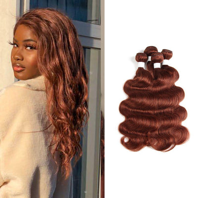 Colored 100% Human Hair Weave Straight Hair Bundle 8-26 inch (33) (2909067706468)