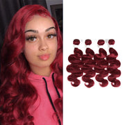 Kemyhair  4 Human Hair Bundles Body Wave (Burgundy) (2909110534244)