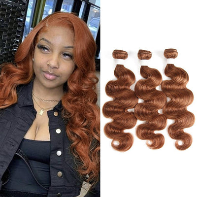 Kemy Hair Colored 100% Brown Human Hair Weave BODY Three Hair Bundles 8-26 inch (30) - Kemy Hair