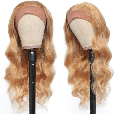 Kemy Hair Body Wave Human Hair Headband Wig Honey Blonde (16''-28'')(27) - Kemy Hair