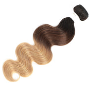 Ombre 1B/4/27 Body Wave Non-Remy Human Hair Bundle 8''-26''