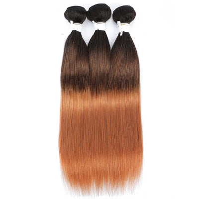 Straight Ombre 1B/4/30 Non-Remy 3 Human Hair Bundles 10''-26''