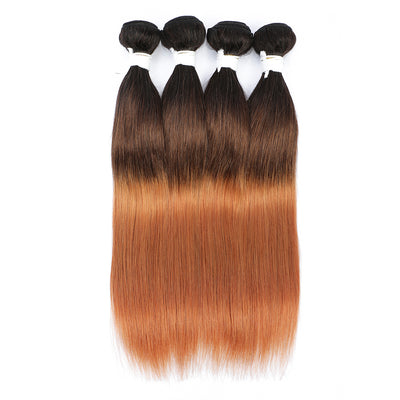 Straight Ombre 1B/4/30 Non-Remy 4 Human Hair Bundles 10''-26''