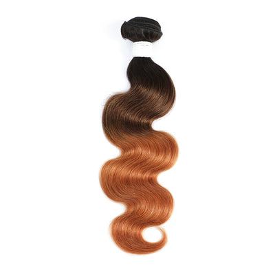Ombre 1B/4/30 Body Wave Non-Remy Human Hair Bundle 10''-26''