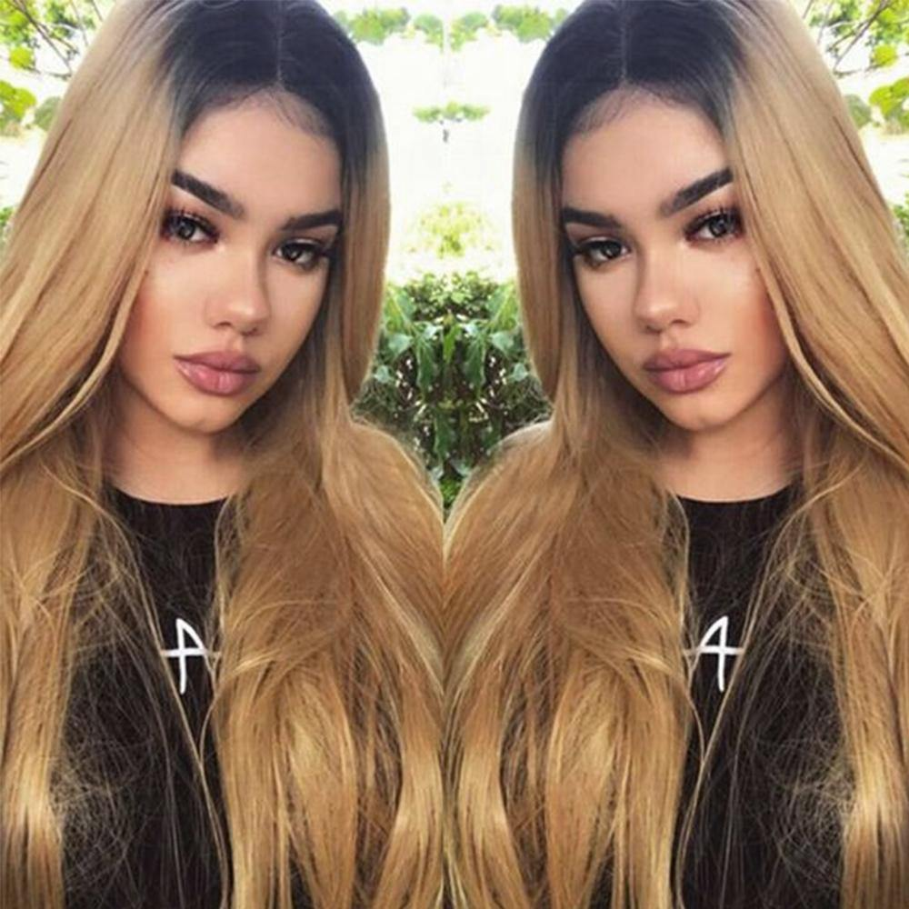 Kemy Hair Custom ombre 27 Human Hair Lace Front wigs 8''-28'' - Kemy Hair