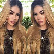 Kemy Hair Custom ombre 27 Human Hair Lace Front wigs 8''-28''
