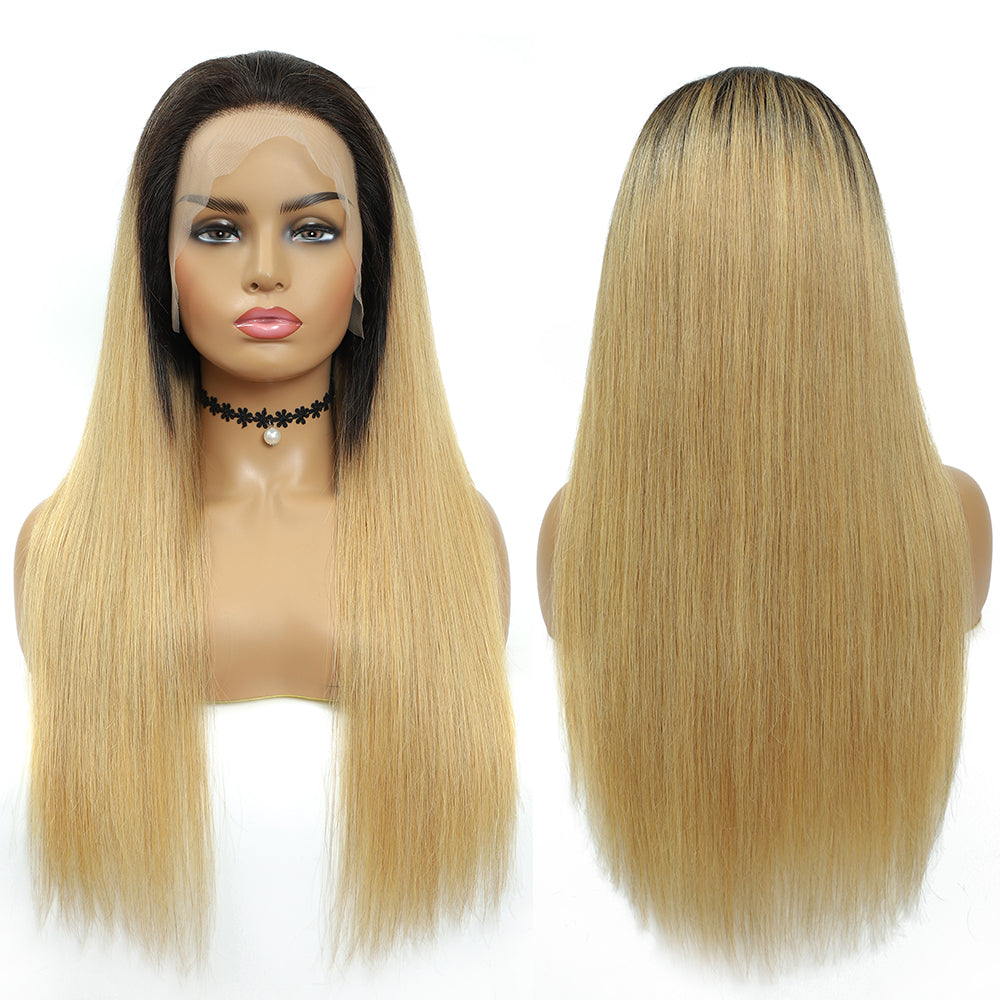 Kemy Hair Custom ombre 27 Human Hair Lace Front wigs 16''-28''