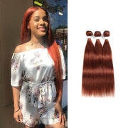 Colored 100% Human Hair Weave Straight 3 Hair Bundles 8-26 inch (33) (2622463508580)