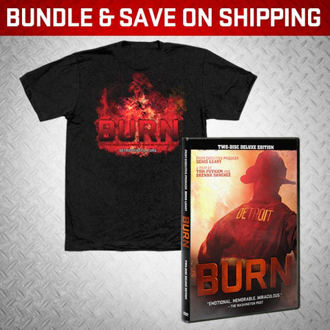 """BURN"" DVD + ANY SHIRT! - BURN Webstore"