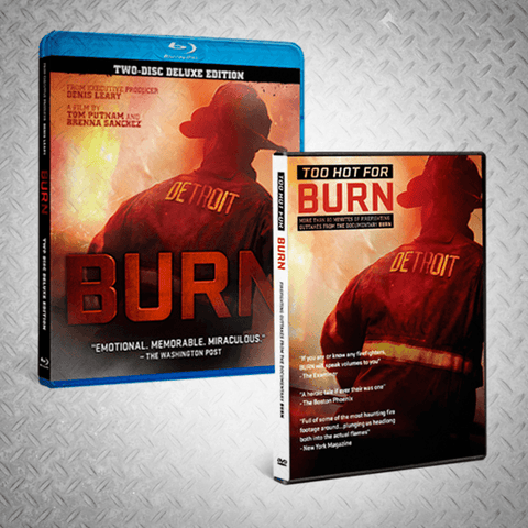 """BURN"" BLU-RAY + ""TOO HOT FOR BURN"" DVD - BURN Webstore"