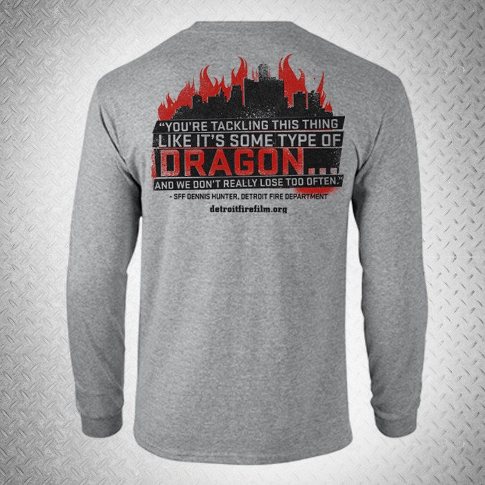 """FIGHTING THE DRAGON"" LONG SLEEVE T-SHIRT - BURN Webstore"