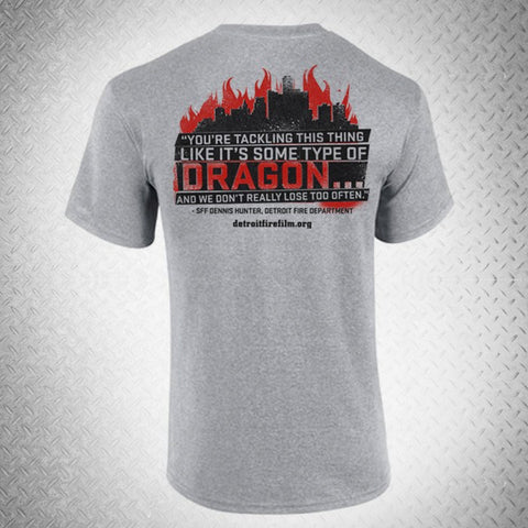 """FIGHTING THE DRAGON"" T-SHIRT - BURN Webstore"