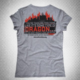 """FIGHTING THE DRAGON"" LADIES T-SHIRT - BURN Webstore"