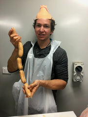 Sausage making class fun