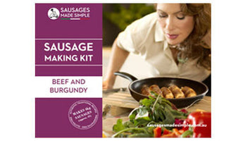 Beef and Burgundy Sausage Making Recipe Kit - Sausages Made Simple