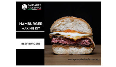 sausages made simple hamburger making kit