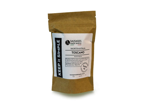 Toscano Spice Pre-mix - Makes 5kg Fresh Sausages