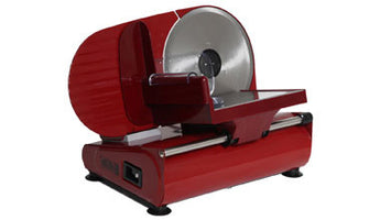 Electric Meat Slicer - Domestic - Ausonia - Red - Sausages Made Simple