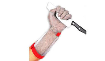 Stainless Steel Glove - Ring Mesh - Long Sleeve Glove - Sausages Made Simple