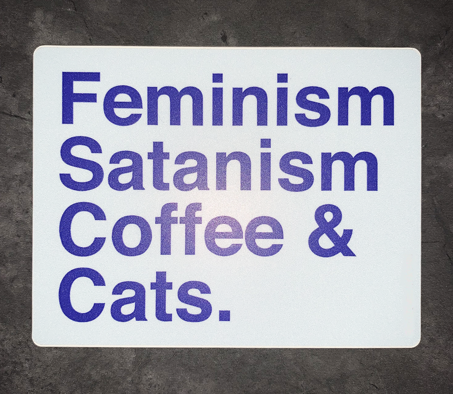 Feminism Satanism Coffee & Cats Sticker Decal - Pop Culture Spot