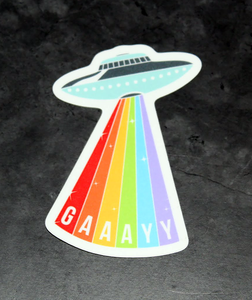 Gay Pride Spaceship Sticker Decal - Pop Culture Spot