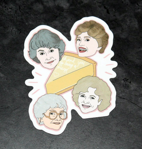 The Golden Girls Thank You for Being a Friend Bumper Sticker Decal - Pop Culture Spot