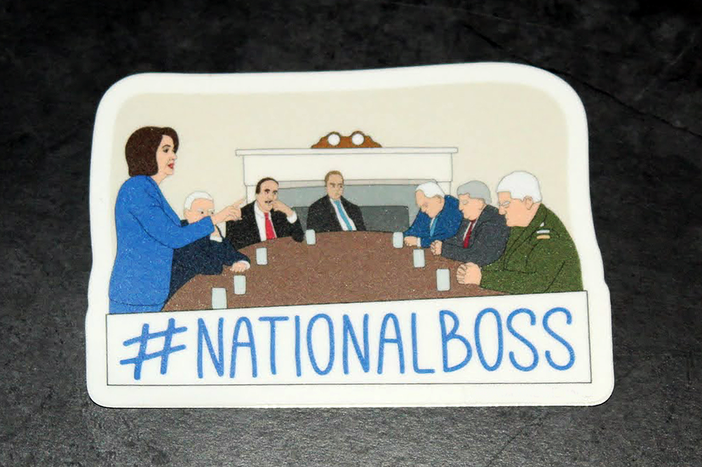 Speaker Nancy Pelosi #NATIONALBOSS Sticker Decal - Pop Culture Spot
