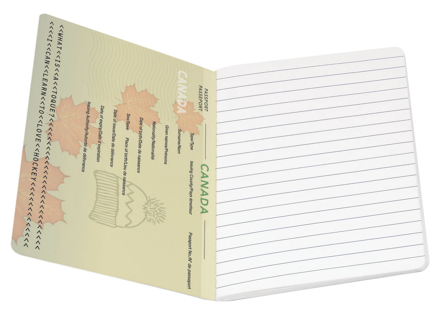Canada Passport Notebook Notepad