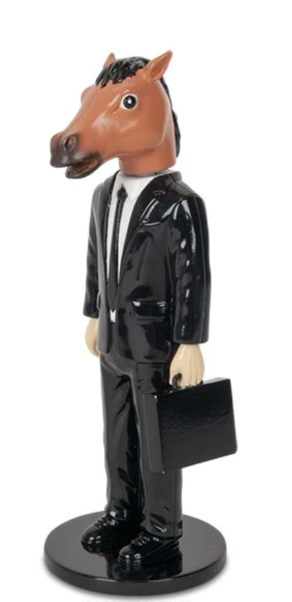Creepy Horse Man Executive Bobble Head