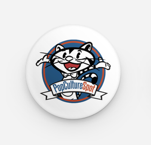 PopCultureSpot Tickles the Cat Button Pin
