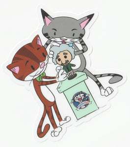 PopCultureSpot Tickles and Marv Cats' Character Vinyl Sticker