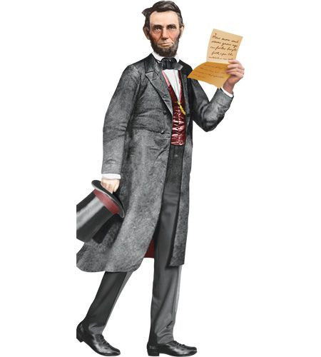 Abraham Lincoln Greeting Card and Stickers - Pop Culture Spot