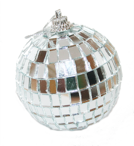 "2"" Hanging Disco Ball Mirror Ball Christmas Tree Ornament"