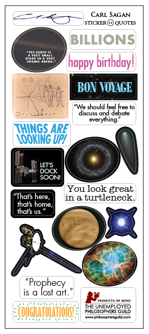 Carl Sagan Cosmos Quotable Greeting Card & Stickers - Pop Culture Spot