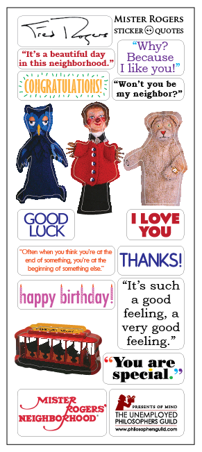 Mister Rogers Neighborhood Fred Rogers Greeting Card & Stickers - Pop Culture Spot