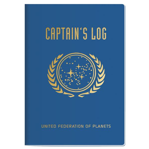 Star Trek Captain's Log Large Notebook Notepad - Pop Culture Spot