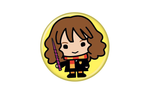 Harry Potter Hermione Animated Style Character Pin Button - Pop Culture Spot