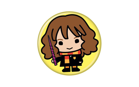 Harry Potter Hermione Animated Style Character Pin Button