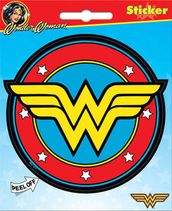 DC Comics Wonder Woman Logo Bumper Sticker Decal - Pop Culture Spot
