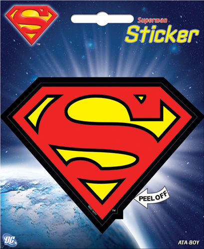 DC Comics Superman Logo Bumper Sticker Decal - Pop Culture Spot