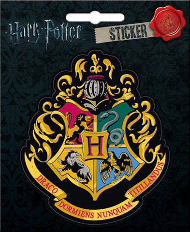 Harry Potter Hogwarts Crest Sticker Locker Computer Scrapbook Decal - Pop Culture Spot