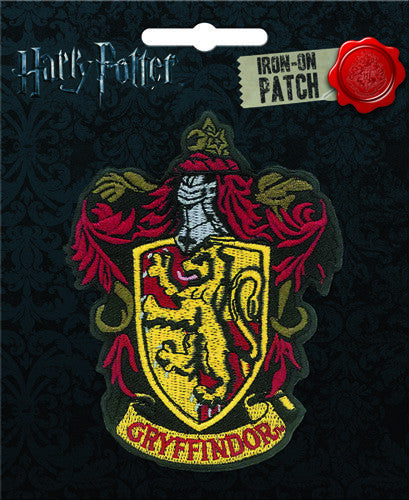 Harry Potter Gryffindor Crest Iron-On Patch - Pop Culture Spot