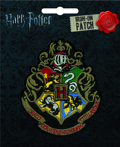 Harry Potter Hogwarts Crest Iron-On Patch - Pop Culture Spot